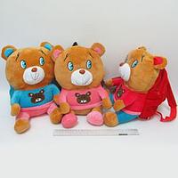 Рюкзак детский с игрушкой Мишка 24*18*8см mix3 JO 0534-1