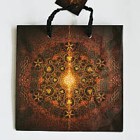 Подарочный пакет ЧАШКА 16х16х7,5 Абстракция