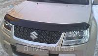 Дефлектор капота (мухобойка) Suzuki Grand Vitara 2005-, на крепежах