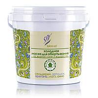 Холодная маска на зеленой глине и водорослях. Лимфодренажная с сельдереем, артишоком, душицей, 1000 мл