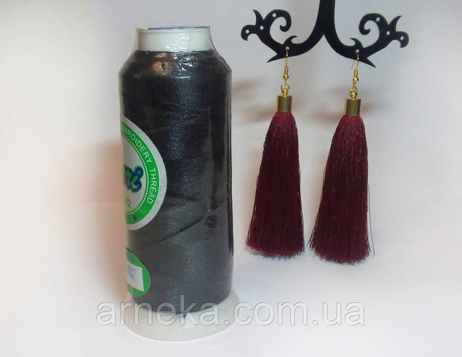 Нитки для машинной вышивки Peri, полиэстер 120D/2, 3000 ярдов цвет черный -   Арника  в Черновцах