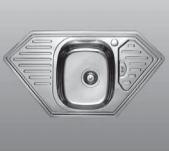 Мойка угловая врезная 950x500х180 Decor