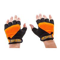 Перчатки для фитнеса Matsa Sareno MSF-1008 (р.S, оранжевые)