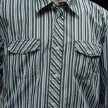 Рубашка мужская в зеленую полоску Lerros XL