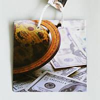 Подарочный пакет ЧАШКА 16х16х7,5 Деньги