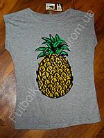 Женская футболка ананас меланж