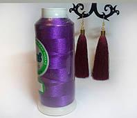 Нитки для машинной вышивки Peri, полиэстер 120D/2, 3000 ярдов, цвет 3114 фиолетовый