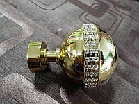 Наконечник к кованым карнизам Авея ø25мм цвет золото