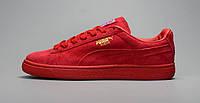 Женские кроссовки Puma Suede Mono Iced красные, фото 1