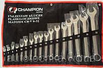 Набор ключей рожково-накидных 17-ед Champion Польша.