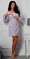 Ночная сорочка  для кормящих мам Linda, лососевая, М/46, TM Taro