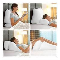 Мультипозиционная подушка.Цветная Белая.