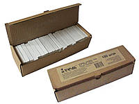 Мел канцелярский белый школьный 100шт 12х12х75мм картонная коробочка