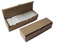 Мел школьный белый, 100 шт 12х12х75 мм, 900 г, коробка из гофрокартона