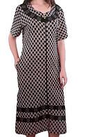 Вискозный женский халат большого размера-летний