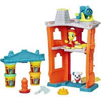 Набор для творчества и пластилин Город: Пожарная станция Play-Doh Town B3415