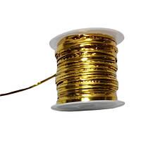"""Фольгированная проволока """"золото"""" проволока для упаковки 0,4mm/10m (25шт/уп)"""