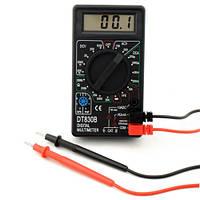 Компактный цифровой мультиметр dt-830b качественный dt-830в, фото 1