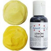 Гелевый краситель Америколор 21мл Лимонно желтый
