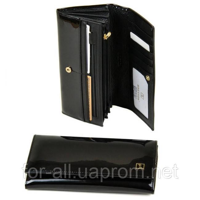 0d711c564414 Красивый женский кошелек из лаковой кожи Bretton Gold W0807 black -  Интернет-магазин Модная покупка