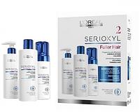 Набор для окрашенных, тонких волос Loreal Professional Serioxyl Anti-Thinning Program Coloured, Thinning Hair