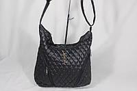 Стильная женская сумка для спорта и активного отдыха, материал стеганная плащевка, на одно плечо. Черный цвет