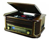 Ретро грамофон виниловый с CD USB RADIO FM AM + касеты