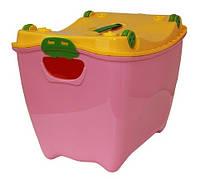 """Ящик для игрушек """"Супер-Пупер"""" розовый, TM Idea"""