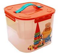 """Контейнер с вкладышем для хранения мелких вещей  """"Игрушки"""" 7 литров, TM Idea"""