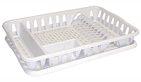 Сушилка для посуды 32*49 см (мрамор), TM Idea