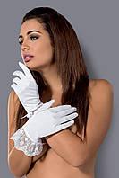 Перчатки Obsessive Etheria белого цвета полиэстер