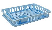 Сушилка для посуды 32*49 см (голубая), TM Idea
