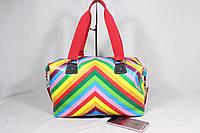 Стильная женская сумка для спорта и активного отдыха NIKE, эко кожа. Цвет мультиколор