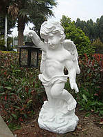 Садовая скульптура Ангел с лампой 36x32x82 cm