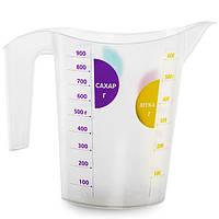 Мерный стакан пластиковый 1 л, TM Idea
