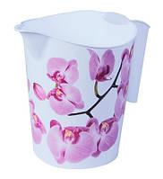 Кувшин пластиковый 1 л Орхидея, TM Idea