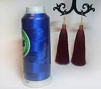 Нитки для машинной вышивки Peri, полиэстер 120D/2, 3000 ярдов, цвет 3323 королевский синий