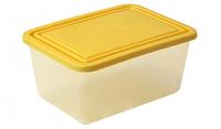 Контейнер для хранения прямоугольный 2 л (банановый), TM Idea