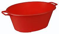 Таз для стирки овальный 25 л (красный), TM Idea