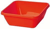 Таз хозяйственный квадратный 8 л (красный), TM Idea