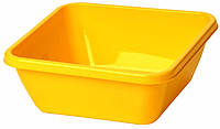 Таз хозяйственный квадратный 12 л (желтый), TM Idea