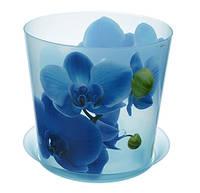Цветочный горшок Орхидея Ø16 см (голуб.), TM Idea