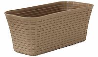 Балконный ящик Ротанг 40 см (бежевый), TM Idea