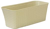 Балконный ящик Ротанг 40 см (белый), TM Idea