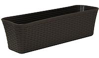 Балконный ящик Ротанг 60 см (коричневый), TM Idea, M3226