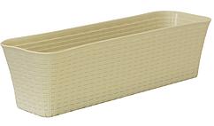 Балконный ящик Ротанг 60 см (белый), TM Idea, M3226