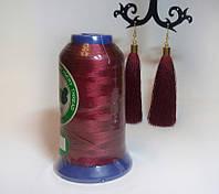 Нитки для машинной вышивки Peri, полиэстер 120D/2, 3000 ярдов, цвет 3074 бордовый