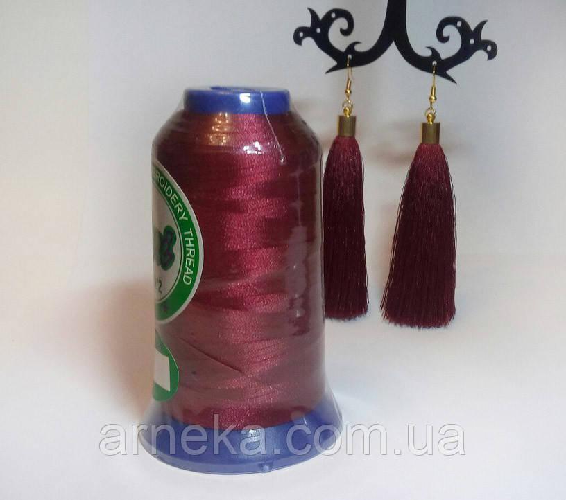 Нитки для машинной вышивки Peri, полиэстер 120D/2, 3000 ярдов, цвет 3074 бордовый -   Арника  в Черновцах