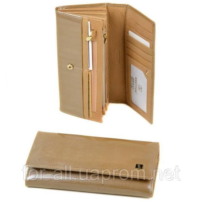 fc6e4f131819 Купить Красивый женский кошелек из лаковой кожи Bretton Gold W0807 ...