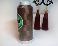 Нитки для машинной вышивки Peri, полиэстер 120D/2, 3000 ярдов, цвет 3218 коричневый средний тон